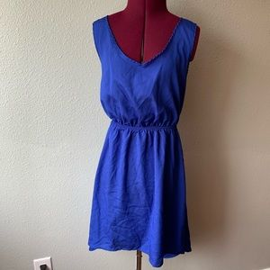 One clothing blue hi low sun dress sz M